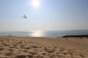 Flying high above Europe's largest sand dune