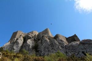 Higher than the swallows fly, climbing up to Peyrepertuse