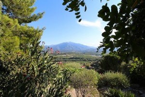 Mount Canigou in the distance