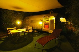 Our Airstream garden by night - groovy!