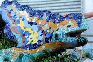 The famous lizard of Park Guell
