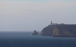 The lighthouse at Cabo St Vincent, the most southwesterly point in Europe