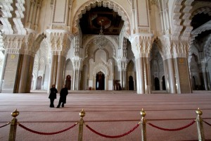Just a fraction of the massive Hassan II mosque, Casablanca