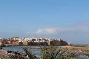 Rabat kasbah from across the river