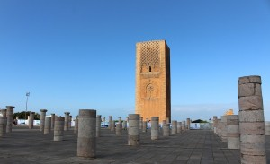 The Hassan Tower among the Roman coloumns in Rabat