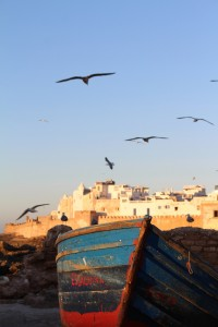 The boat and the battlements of Essaouira