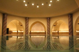 The yet-to-be used public baths below Hassan II mosque, Casablanca