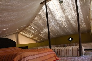 A main bed and plenty of day beds means one tent can sleep up to eight people