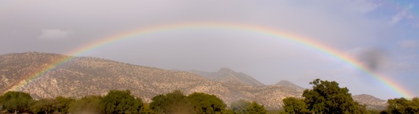 Full Rainbow over the Atlas mountains