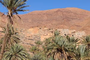 Homes melt into the mountain in Ait Mansour gorge