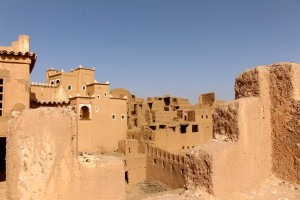 The ksar (walled village) next to the kasbah (walled house)