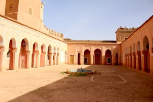 The riad - or walled garden. Sadly the orange trees around the fountain are gone