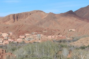 The houses in the Gorges du Dades are almost invisible against their mother earth