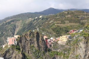 Corniglia - the only one of the Cinque Terre towns that doesn't run down to the sea