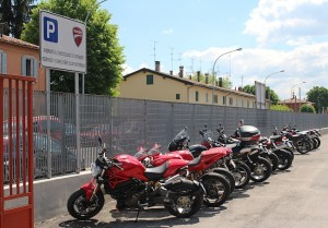 Reserved for employees' Ducatis - not for employees of Ducati!