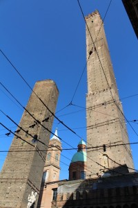 The leaning towers of Bologna