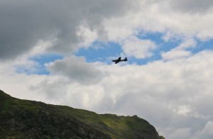 A Spitfire made a change from the low-flying RAF jets