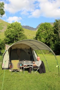 Camping in the shadow of Scafell Pike
