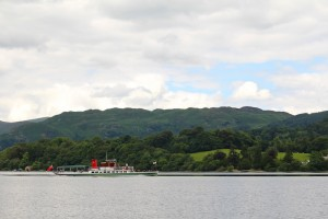 The elegant lines of one of the Ullswater Steamers