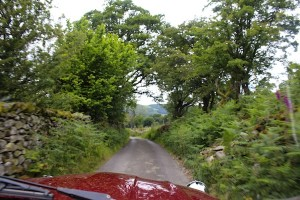 The narrow roads around the Lake District
