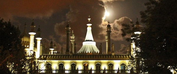 Brighton Pavilion - the moon and the clouds