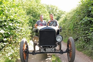 Charles and Andy in the Model T