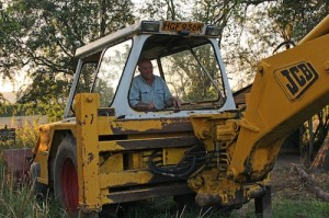 Geoff and the JCB