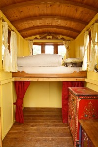 inside one of the wagons