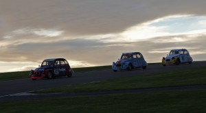 Charging over the hill - the eventual winner already in the lead as night falls