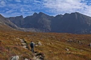 Hiking up to the Black Cuillin, Skye