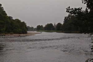 The Ness river running through Inverness, and still open for trout fishing