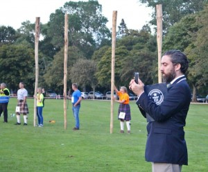 The caber-tossing Guinness World Record official