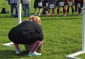 This sport is not for the meek - that stone weighs nearly 90kgs