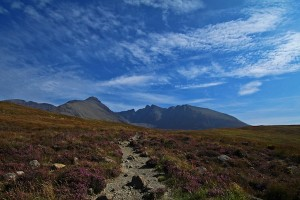 We couldn't believe how sunny and blue it was as we hiked the Black Cuillin