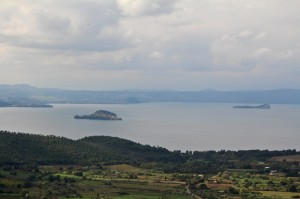 Lake Bolsena is one of the largest volcanic lakes in Europe