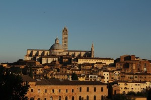 Siena skyline, including the magnificent duomo