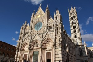 Siena's cathedral, or duomo, is a lavish affair