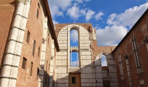 Siena's cathedral would have been the largest in the world, if they had finished it. This is the leftover end wall