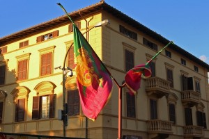 Siena's flags are never lowered