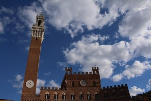 Siena's palazzo marks the start and end of the race