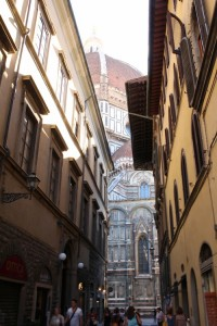 The Florence duomo looms large wherever you look