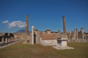 Apollo's temple in Pompeii - prayers to the gods went unheard on that day