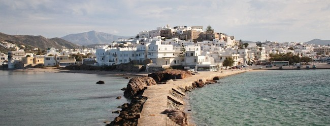 Naxos town as seen from the Portara