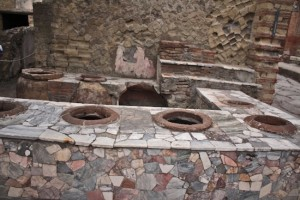 One of the many thermopolis, or fast food stalls, in Herculaneum