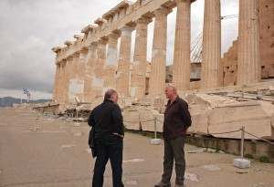 Our guide, Thanasis, and Geoff