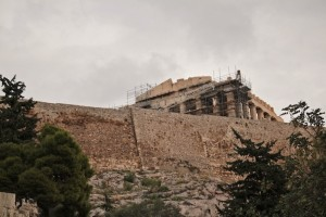 Real controversy surrounds the wall of the Acropolis
