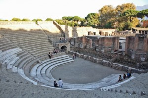 Still used to this day - one of the amphitheatres of Pompeii