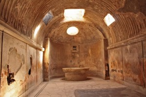 The cold room of the bath house in Pompeii
