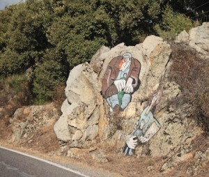 The murals are also painted on rocks across the island