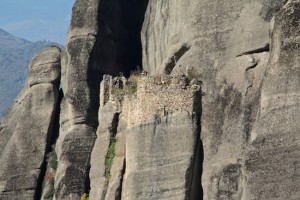 The ruins of one of the ancient monasteries